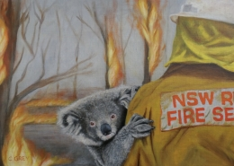 Living with Koalas artists Christelle GREY