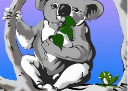 Living with Koalas artist Barry INGHAM