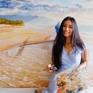 USA 50 artist - Hawaii - Mae WAITE