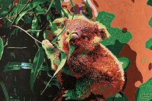 Libng with Koalas artist Alejandra SIEDER
